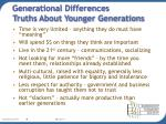 generational differences truths about younger generations