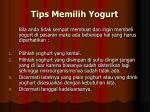 tips memilih yogurt
