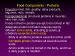 food components proteins