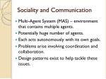 sociality and communication