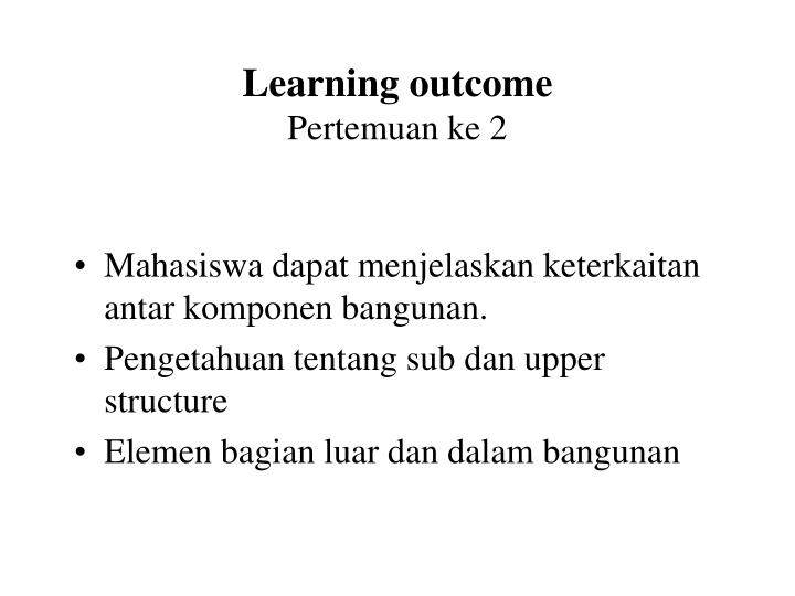 learning outcome pertemuan ke 2 n.