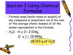 section 3 using chemical formulas