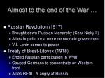 almost to the end of the war
