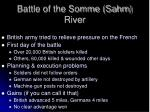 battle of the somme sahm river