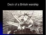 deck of a british warship