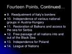 fourteen points continued