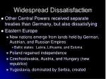 widespread dissatisfaction
