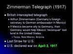 zimmerman telegraph 1917