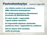 puutoskeskeytys memory page fault