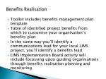 benefits realisation