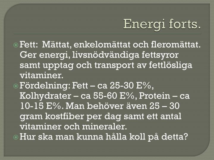 Energi forts.
