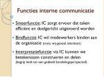 functies interne communicatie