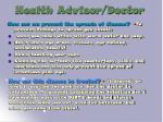 health advisor doctor