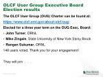 olcf user group executive board election results