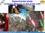 experimental study of heavy flavours in aa at the lhc