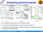 extracting quarkonia signals