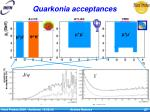 quarkonia acceptances