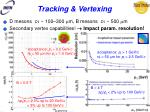 tracking vertexing