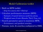 model calibration toolkit