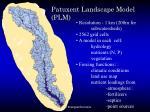 patuxent landscape model plm
