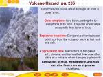 volcano hazard pg 205