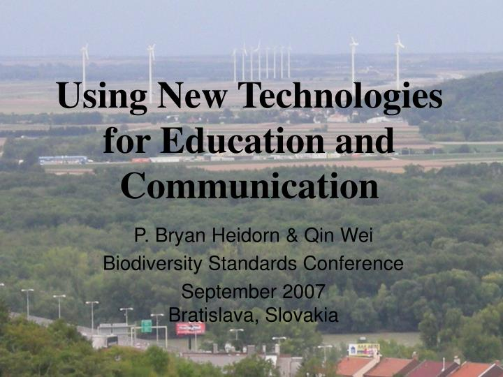 using new technologies for education and communication n.