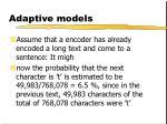 adaptive models4