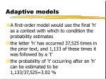 adaptive models7