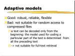 adaptive models9