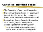 canonical huffman codes