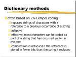dictionary methods2