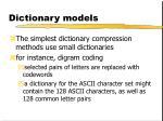dictionary models1