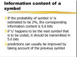 information content of a symbol3