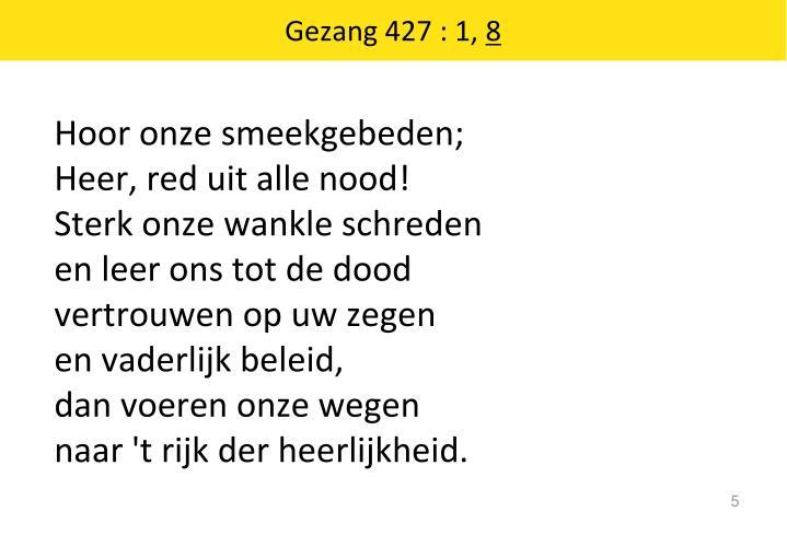 Gezang 427 : 1,