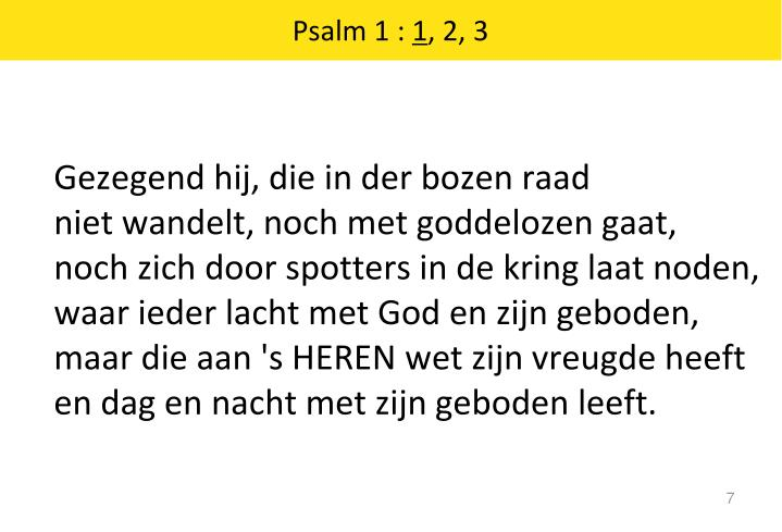 Psalm 1 :