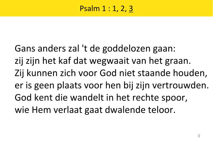 Psalm 1 : 1, 2,