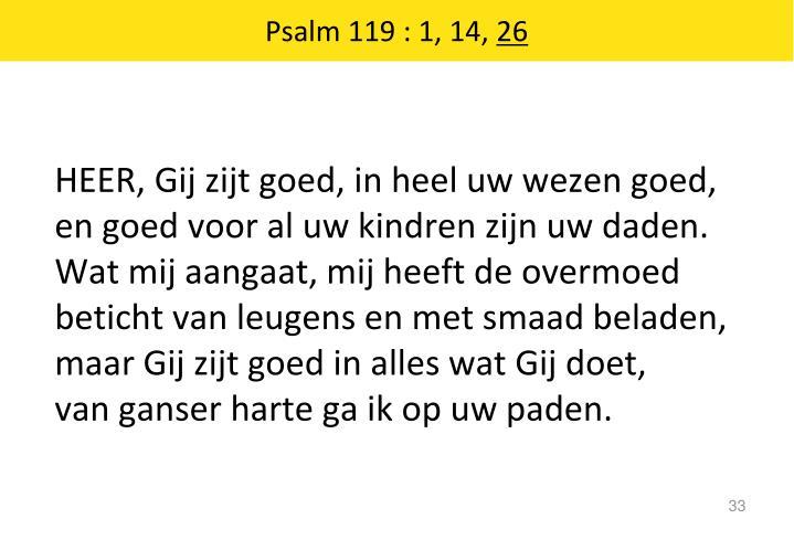 Psalm 119 : 1, 14,