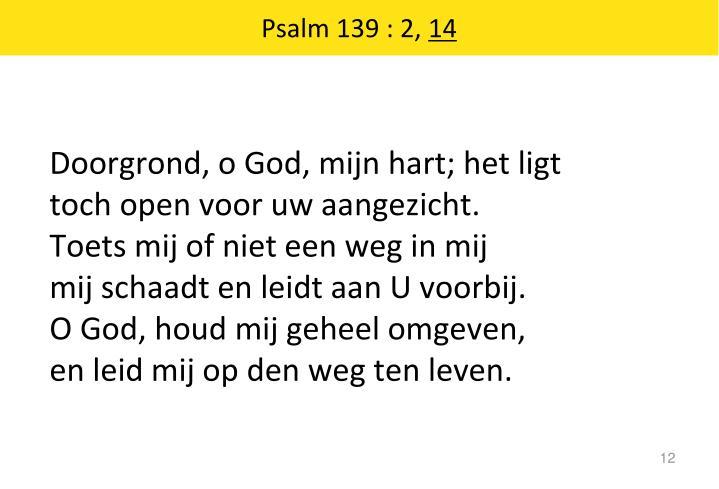 Psalm 139 : 2,
