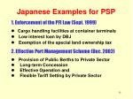 japanese examples for psp