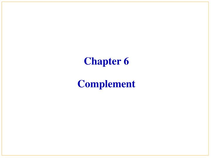 chapter 6 complement n.