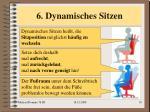 6 dynamisches sitzen
