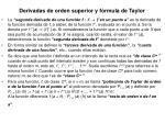 derivadas de orden superior y f rmula de taylor