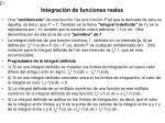 integraci n de funciones reales