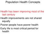 population health concepts