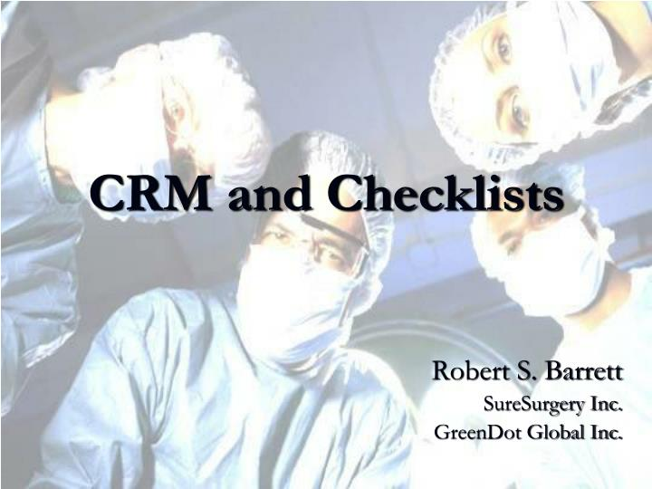 crm and checklists n.