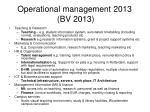 operational management 2013 bv 2013