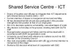 shared service centre ict