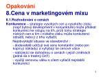 opakov n 8 cena v marketingov m mixu3