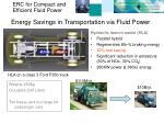 energy savings in transportation via fluid power