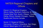 natea regional chapters and offices